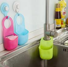 Creative Kitchen Sink Shelving Bag Hanging Plastic Bathroom Kitchen Gadget Storage Box Silicone Storage Bag(China)