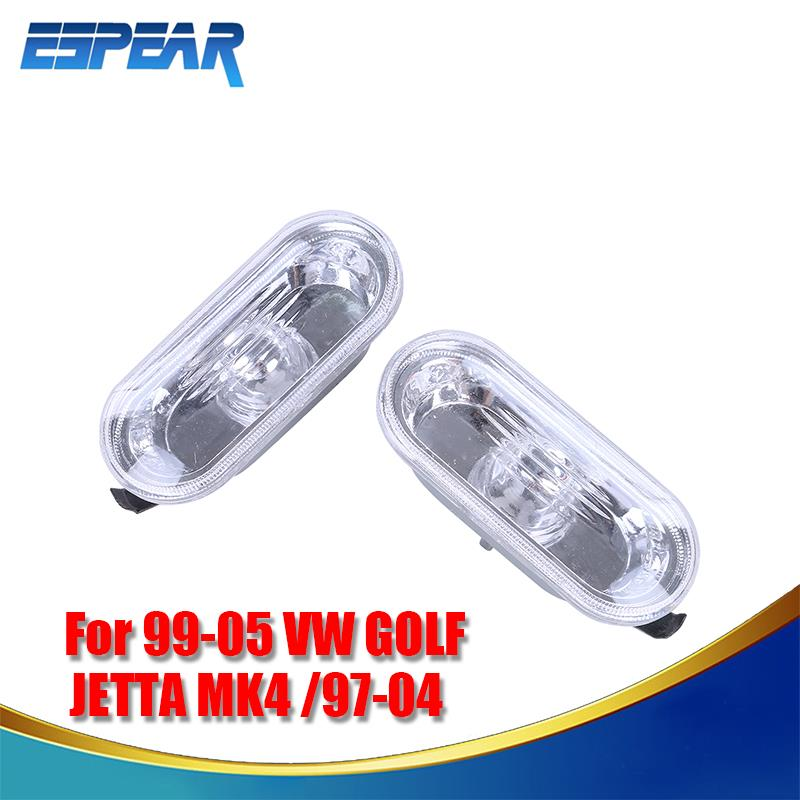 New For VW Golf Jetta MK4 Passat B5 B5.5 97-04 Beetle Side Marker Light Turn Signal Lamp Smoked Lens Without Bulbs #979<br>