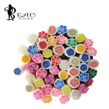 2016 Beauty Fimo Nail Art Stickers Fimo Flower 3D Nail Art Decoration Polymer Clay Rods Nail DIY Design for Gel Nail Polish 5mm(China)