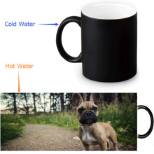 french bulldog mugs coffee mug heat reveal cup cold hot heat changing color magic mug home decor ceramic Tea Milk Cup