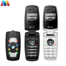 Super Mini Flip phone Keychain X6 Cell Phone With Bluetooth MP3 1.44 inch Screen Cute Mobile phone Car phone
