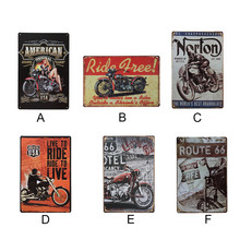 Vintage Tin Signs Retro Motorcycle Metal Sign Antique Imitation Iron Plate Painting Decor For Bar Cafe Living Room Home Decor