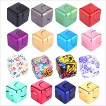 2017 9 Colours Hot Sale Metal Fidget Cube Spinner Magic Cube EDC Finger Fidget Toy Gift Present Stress Anti-stress Finger Toy