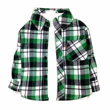 Flannel plaid shirt for boys dress shirt girls shirts and blouses infant toddler boy children's shirts long sleeve 1 2 3 4 year(China)