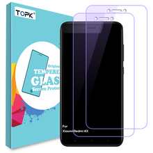 [2PCS]For Xiaomi Redmi 4X Screen Protector,Topk Anti Blue Light HD Clear Automatic Adsorption Tempered Glass for Xiaomi Redmi 4x