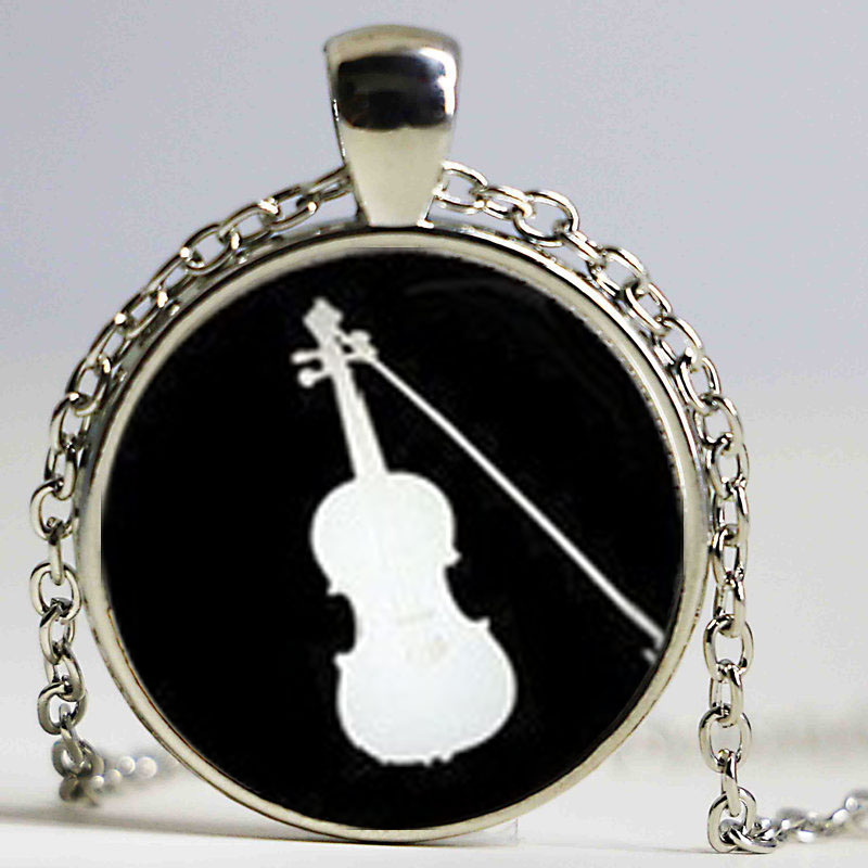 Domed Music Cello Custom Year Stainless Steel Heart Bead Charm