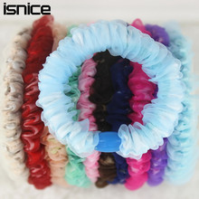 isnice 10pcs/lot Double Layer Women Chiffon Gum For Hair Printed Flower Hair accessories ornaments hair clips for women