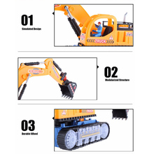 New HOT Sale Musical Excavator Flashing Wheel Builder Machine Car Kids Early Learning Toy Children Educational Gift