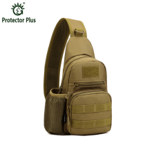 Protector Plus Waterproof Oxford Men Shoulder Messenger Crossbody Bag Military Tactic Practical Bottle Pocket Male Chest Pack
