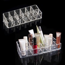 Fashion 12 Trapezoid Clear Makeup Display Lipstick Stand Case Cosmetic box Organizer Holder