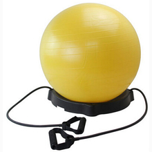 Exercise Ball Chair Yoga Fitness Pilates Ball Stable Base for Gym Resistance Bands Improves Balance, Core Strength Posture(China)
