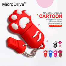 USB flash Drive 4GB 8gb 16gb Cat paw Pen drive Cartoon pendrive 32GB USB Stick Flash Drive 64GB USB Flash Key Chain(China)