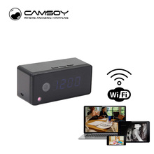 Intercom Function Table Clock Camera 720P HD Wifi IP P2P Camera Mini Camera Infrared Night Vision Voice Recorder Mini DV Camera