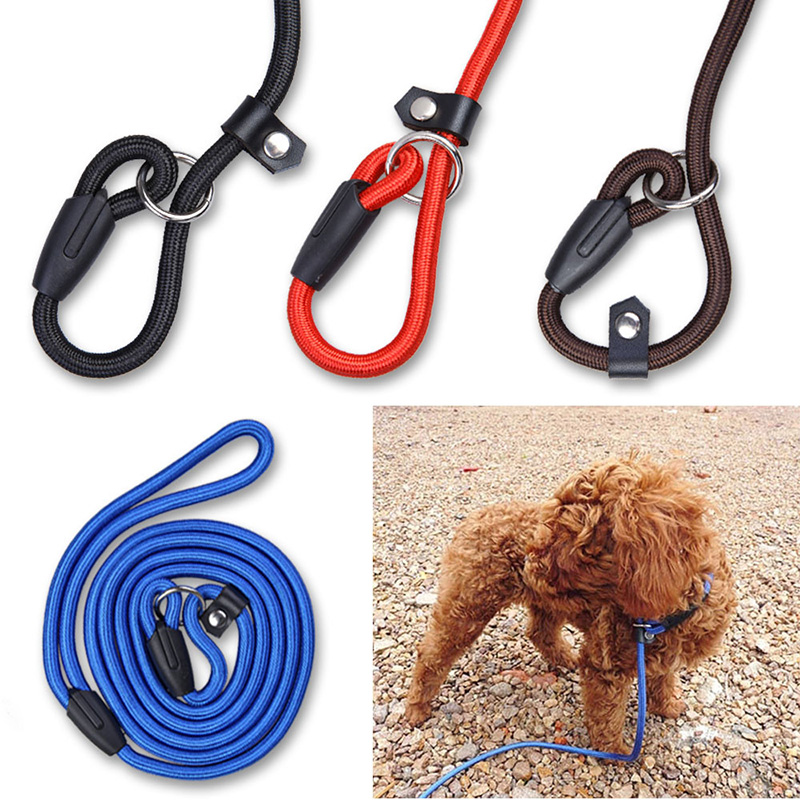 Dog Collars & Leads 1.8m Multi-function Pet Leash Pet Nylon Double Head Training Rope Dog Two Diving Handle Wear Traction Rope