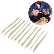 8/10Pcs Plastic Pottery Modeling Sculpture Set DIY Carving Clay Sculpture Knife Shaper Polymer Modeling Clay Tools(China)