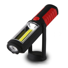 Hot Portable Rechargeable 360 degree COB LED Magnetic Work Light Flashlight Hand Torch Lamp W/Hook