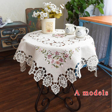NEW Christmas Hand Cotton Embroidery Tablecloths Cotton Square Coffee Table cloth Piano Cover towel Home Cover cloth(China)
