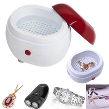 Portable Mini ultrasonic washing machine parts ultrasonic washer household jewelry lenses watches dentures cleaning machine(China)
