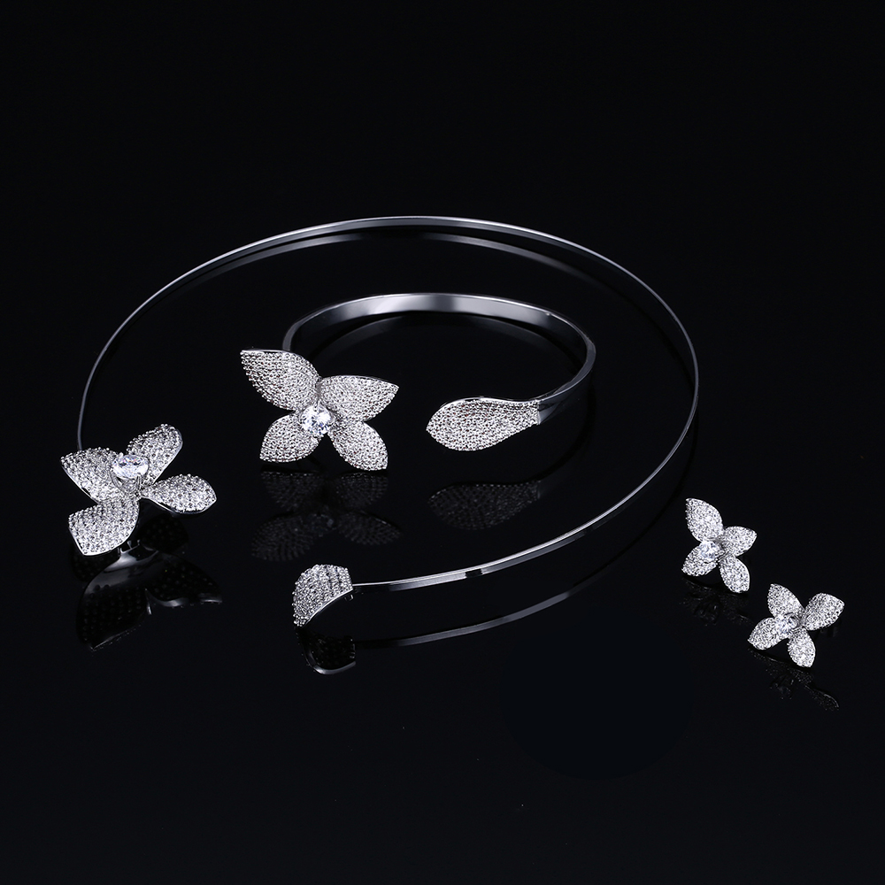flower jewelry sets for Bridesmaid (9)