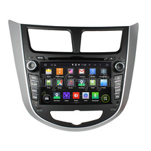 NaviTopia Quad Core Android 5.1 Car DVD GPS For Hyundai Verna /Accent /Solaris 2011-2012 Radio+Bluetooth+WiFi+Mirror Link(China)