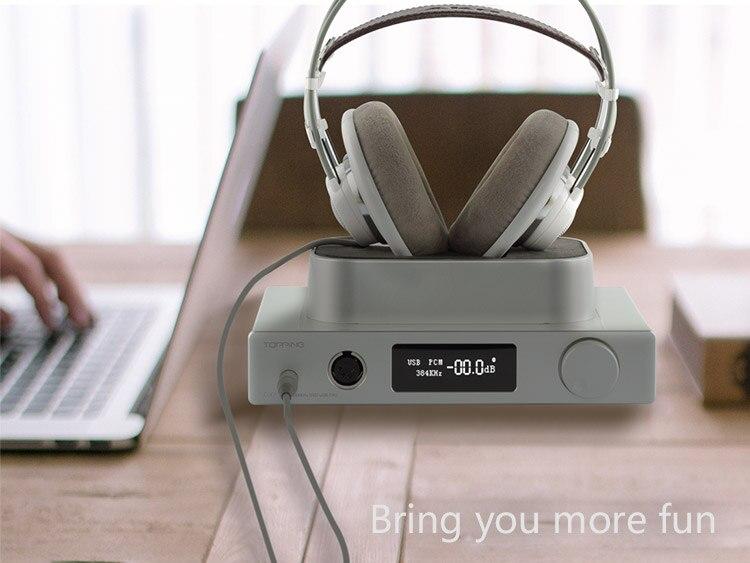 TOPPING DX7 high resolution 32Bit / 384k fidelity DSD balanced DAC desktop headphone amplifier decoder Factory Direct