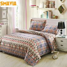 SMAVIA Hot Selling 3/4 pcs Quilt Cover Sets Bedding Set Quality Duvet Cover Bed Sheet Pillowcase Twin/Full/Queen/King Size Home