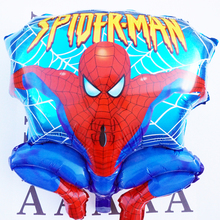 2pc Large size Spiderman balloons Hydrogen Jump Type Helium Foil Balloons For Kids Birthday Party Wedding Decoration toys