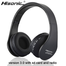 Hisonic bluetooth earphone Wireless Stereo Foldable Earbuds Microphone casque audio auriculares Headset Headphone Earphone 811(China)