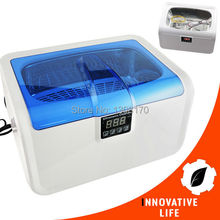 2.5L Digital Ultrasonic Cleaner Heater Jewelry Watches Glasses Dental Equipment Cleaning Tool w/ Timer Stainless Steel 110V/220V