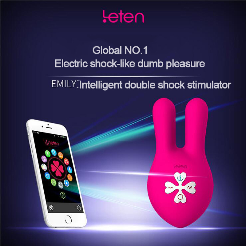 Leten 10 modes Vibrating Rabbit Vibrator For Women Breast Nipples clitoris clamp clip vibration Massager Vibrator  Sex Products<br>