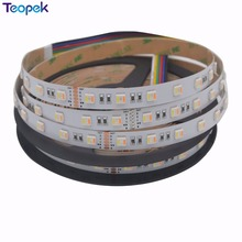 New products RGB+CCT LED Strip 5050 60led/meter 12v 24volt 5 in 1 chips CW+RGB+WW flexible strip(China)