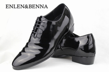 ENLEN&BENNA Free shipping 2015 men's Genuine leather shoes Formal shoes business wedding shoes fashion male shoes flats(China)