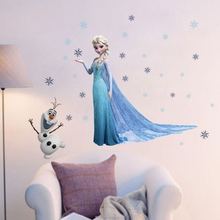 Hot Fashion Elsa Olaf Snowflakes Wall Decal Sticker Vinyl Kids Baby Child Decor Nursery Decor Chris