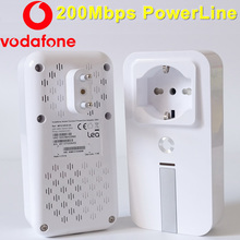 Vodafone mfg10038-0a 200 mbps powerline adapter mini rede ethernet homeplug powerline av adapter extender adaptador plc para iptv(China)