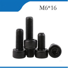 Buy 50pcs M6*16 Black Alloy Steel Metric Thread Hex Socket Head Cap Screw Bolt M6X8/10/12/16 m6 screws,m6 bolts,m6 nails for $6.80 in AliExpress store