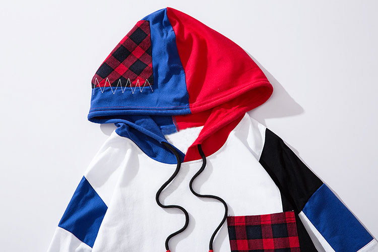 Color Block Patchwork Hoodies 3