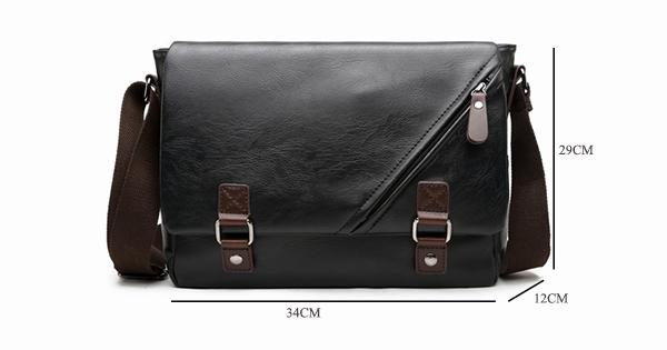MJ Men\`s Bags Vintage PU Leather Male Messenger Bag High Quality Leather Crossbody Flap Bag Versatile Shoulder Handbag for Men (5)1