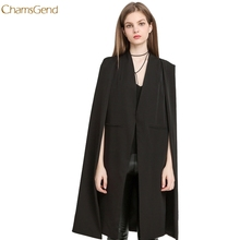 ChamsGend Women Casual Open Front Blazer Suits Pocket Cape Trench Coat Duster Coat Longline Cloak Poncho Coat Dropship 170823(China)