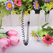 Fashion Beckham Simple Spiral Hairbands helical spring Alice band graceful Design Head Wear 20pcs/lot(China)