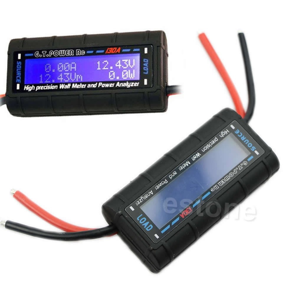 G.T.POWER RC 130A Watt Meter and Power Analyzer High Precision LCD 60V GT-Power<br><br>Aliexpress