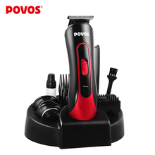 2016 Red and Black Professional Man Kid Hair Clipper Electrical Cutter Trimmers Shaver Comb Haircut Styling Tools POVOS PR3050