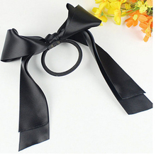 2017 Silk Bowknot Girls Party Ponytail Bow Hairband Ribbon Hair Band Rope for Head Wear Women Hair Styling Accessories(China)
