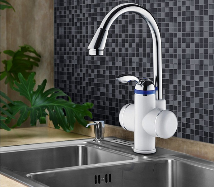 Full-automatic control Stainless steel Kitchen Faucets Electric faucetS  INSTANT WATER HEATER FAUCET <br><br>Aliexpress