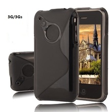 S Line Soft TPU Gel Skin Back Silicon Cover For iphone 3g 3gs Case