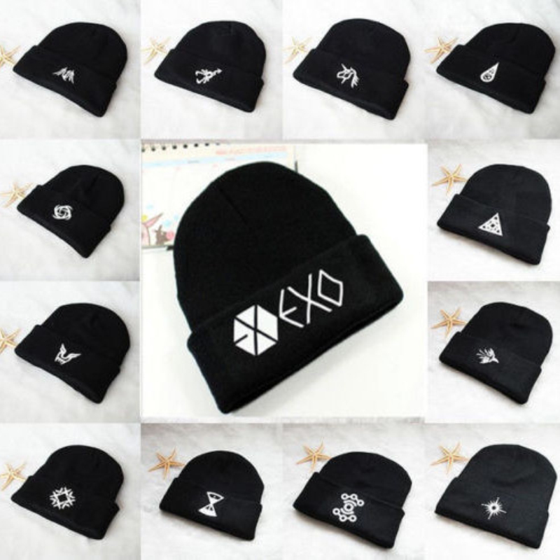 Mainlead Kpop EXO Beanie Hat Knit Cap SKI Baekhyun Chanyeol Constellation title=