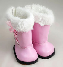 New Arrival Cute Pink Boots For American Girl Fashion 18 Inch Baby Doll Accessories Shoes(China)