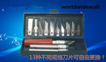 13pcs Carve Knife Knives For Model Making & Paper-cut & Circuit Board Repair
