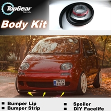 For Daewoo For UzDaewoo FSO Formosa Matiz Bumper Lip Lips / Top Gear Shop Spoiler For Car Tuning / TOPGEAR Body Kit + Strip(China)
