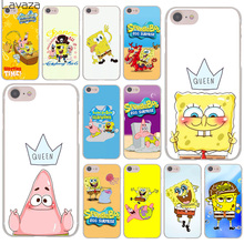 Lavaza SpongeBob SquarePants Sponge Bob Hard Cover Case for Apple iPhone 8 7 Plus 6 6S Plus 5 5S SE 5C 4 4S X/10 Coque Shell