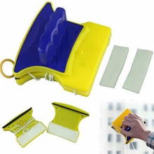 Home Garden Double Side Magnetic Windows Glass Cleaner Brushes Glazing Wiper Washing Cleaning Window Magnetic Brush Scraper Tool